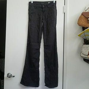 Level99 linen wide leg pants